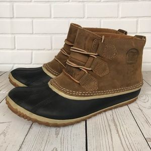 Sorel Out N About Waterproof Leather Duck Boot